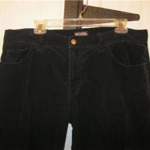 MICHAEL KORS Sz 38 x 30 Black Corduroy Pants Jeans